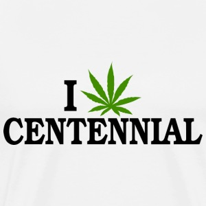I Love Marijuana Centennial Colorado T-Shirt - Men's Premium T-Shirt