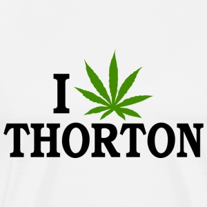 I Love Marijuana Thorton Colorado T-Shirt - Men's Premium T-Shirt