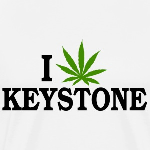 I Love Marijuana Keystone Colorado T-Shirt - Men's Premium T-Shirt