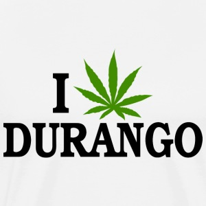 I Love Marijuana Durango Colorado T-Shirt - Men's Premium T-Shirt