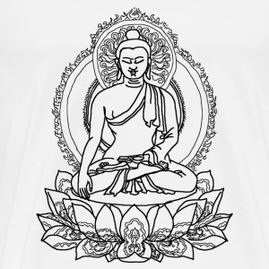 Buddha Lotus Seat - Men's Premium T-Shirt