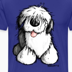 """Bobbie"" - Old English Sheepdog T-Shirt."