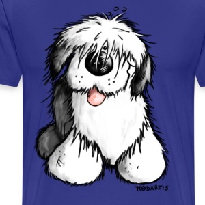 Bobbie - Old English Sheepdog T-Shirt. - Men's Premium T-Shirt
