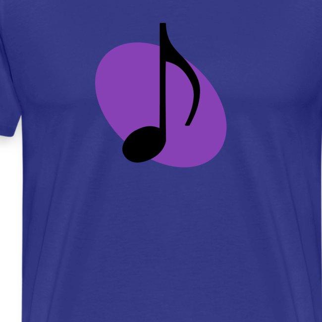 Purple Music Emblem (Black)