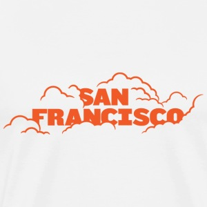 San Francisco Fog Orange T-shirt - Men's Premium T-Shirt