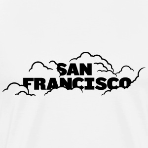 San Francisco Fog Black T-shirt - Men's Premium T-Shirt