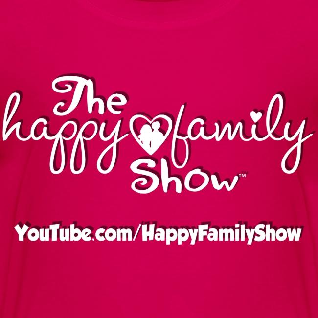 Happy Family Show Kids White Logo T-Shirt