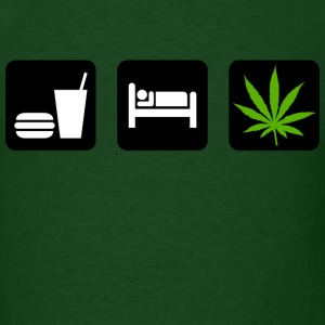 Eat Sleep Smoke Marijuana T-Shirt - Men's T-Shirt