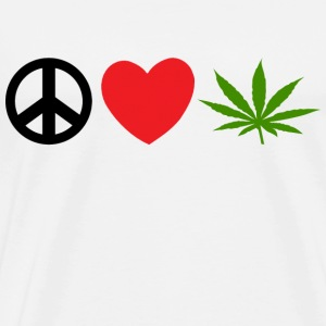 Peace Love Marijuana T-Shirt - Men's Premium T-Shirt
