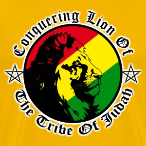 conquering lion of the tribe of judah T-Shirts - Men's Premium T-Shirt