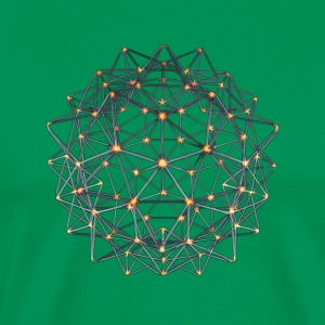 Geometric Beauty: 012 Node - Nickel Orange - Men's Premium T-Shirt