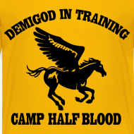 Design ~ DEMIGOD IN TRAINING Pegasus Half-Blood Kids T-Shirt