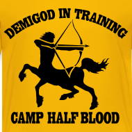 Design ~ DEMIGOD IN TRAINING Centaur Kid's T-Shirt - Half-Blood T-Shirt