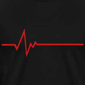 FREQUENCY FREQUENCE PULSE BASS BEAT HEART SHIRT - Men's Premium T-Shirt