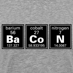 """Ba Co N"" (Bacon) Periodic Elements  T-Shirts"