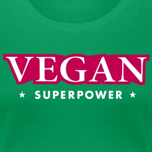 SUPER VEGAN POWER Women's T-Shirts - Women's Premium T-Shirt