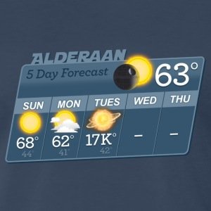 STAR WARS ALDERAAN 5 DAY WEATHER FORECAST T-Shirts - Men's Premium T-Shirt