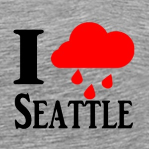 I heart(rain) Seattle T-shirt - Men's Premium T-Shirt