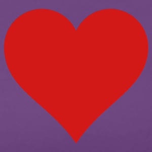 Purple t-shirt with red heart - Women's Premium T-Shirt