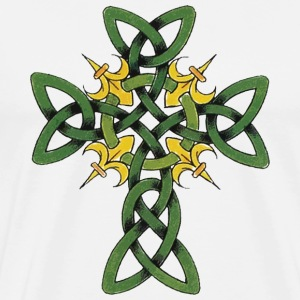 St Patrick's Day Celtic Cross T-Shirt - Men's Premium T-Shirt