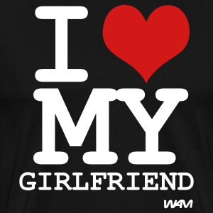 i love my girlfriend by wam T-shirts (manches courtes) - T-shirt premium pour hommes