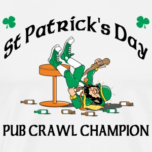 St Patrick's Day Pub Crawl Champion T-Shirt - Men's Premium T-Shirt
