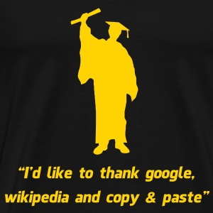 Internet Graduate Graduation thanks T-Shirts - Men's Premium T-Shirt