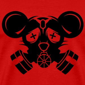 A gas mask with big mouse ears T-Shirts - Men's Premium T-Shirt