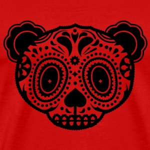 A panda bear head in the style of Sugar Skulls  T-Shirts - Men's Premium T-Shirt