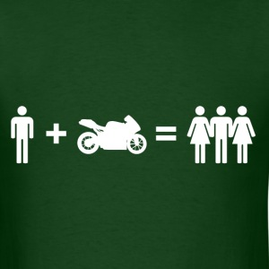 Boys + Motorcycle = Girls - Men's T-Shirt