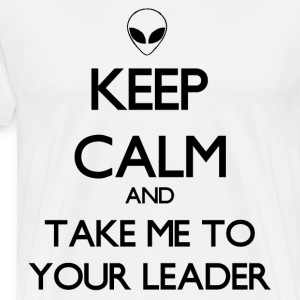 Keep Calm Alien - Men's Premium T-Shirt