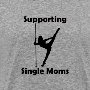 Support single moms blk - Men's Premium T-Shirt