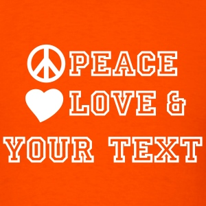 peace_love_and_2 T-Shirts - Men's T-Shirt