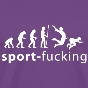 evolution_sport_fucking T-Shirts - Men's Premium T-Shirt
