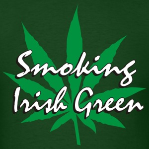 Smoking Irish Green T-Shirt - Men's T-Shirt