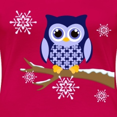 Winter blue owl plus size Women's t-shirt