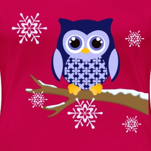 Winter blue owl plus size Women's t-shirt - Women's Premium T-Shirt