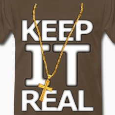 Keep It Real Big Gold Cross