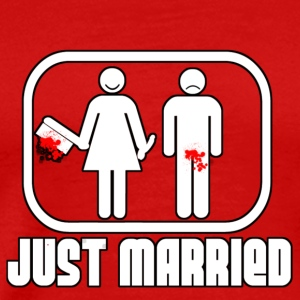JUST MARRIED TRASH T-Shirts - Men's Premium T-Shirt