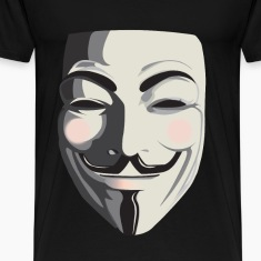 Anonymous T-Shirt - Vendetta, Guy Fawkes, ACTA