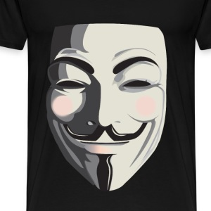 Anonymous T-Shirt - Vendetta, Guy Fawkes, ACTA - Men's Premium T-Shirt