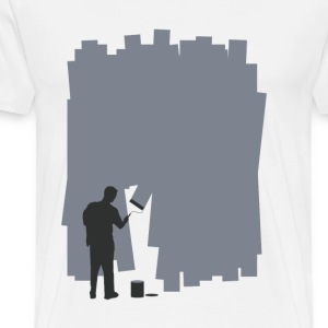 Painting a Wall - Men's Premium T-Shirt