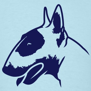 Bull Terrier head_4light_1c T-Shirts - Men's T-Shirt