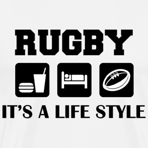 Eat Sleep Play Rugby T-Shirt - Men's Premium T-Shirt