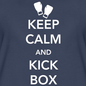 Keep Calm and Kickbox Women's T-Shirts - Women's Premium T-Shirt