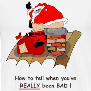 bad santa T-Shirts - Men's Premium T-Shirt Naughty Santa Claus Costume For Men
