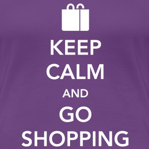 Keep Calm and Go Shopping Women's T-Shirts - Women's Premium T-Shirt
