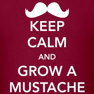 Keep Calm and Grow a Mustache T-Shirts - Men's T-Shirt