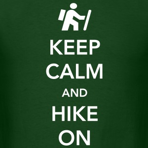 Keep Calm and Hike On T-Shirts - Men's T-Shirt