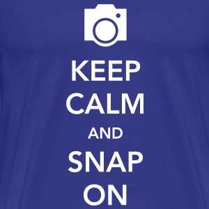 Keep Calm and Snap On T-Shirts - Men's Premium T-Shirt